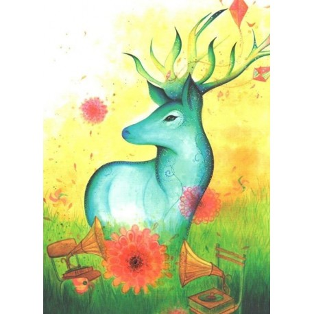 Jehanne Weyman - Colorful deer