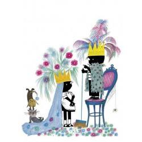 Jip en Janneke als koningspaar