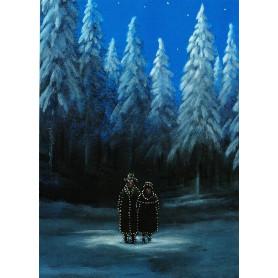Verlicht in het bos