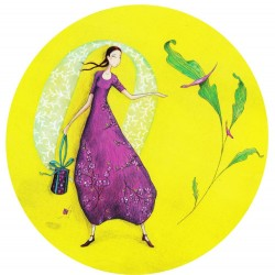 Gaelle Boissonnard - Purple dress