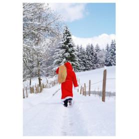 Kerstman onderweg