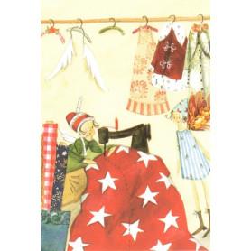 Silke Leffler - Sewing Santa's outfit