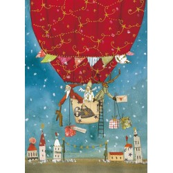 Silke Leffler - Santa and the balloon