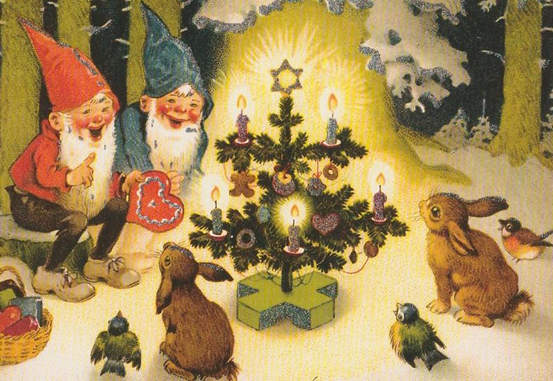 Kerst in het bos - Happy Postcrossing