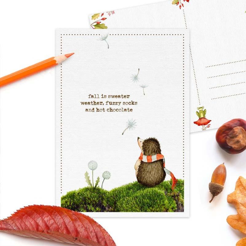 Studio Draak - Hedgehog and dandelion