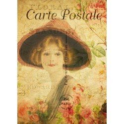 Carte Postale - Lady