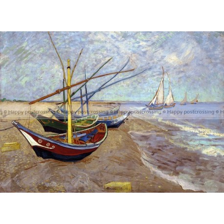 Vincent van Gogh - Boats on the beach