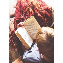Reading under a blanket