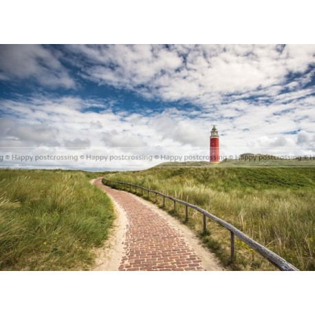 Lighthouse in dutch landscape