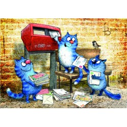 Rina Zeniuk Blue Cats - Postcrossing