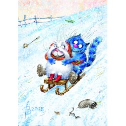 Rina Zeniuk Blue Cats - Winter