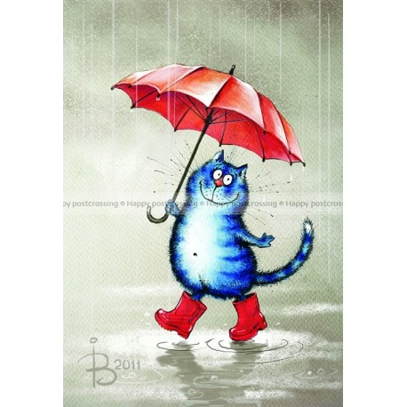 Rina Zeniuk Blue Cats - Cat in Boots