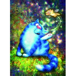 Rina Zeniuk Blue Cats - Fairycat