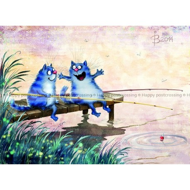 Rina Zeniuk Blue Cats - Fishing