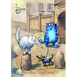 Rina Zeniuk Blue Cats - He does not bite