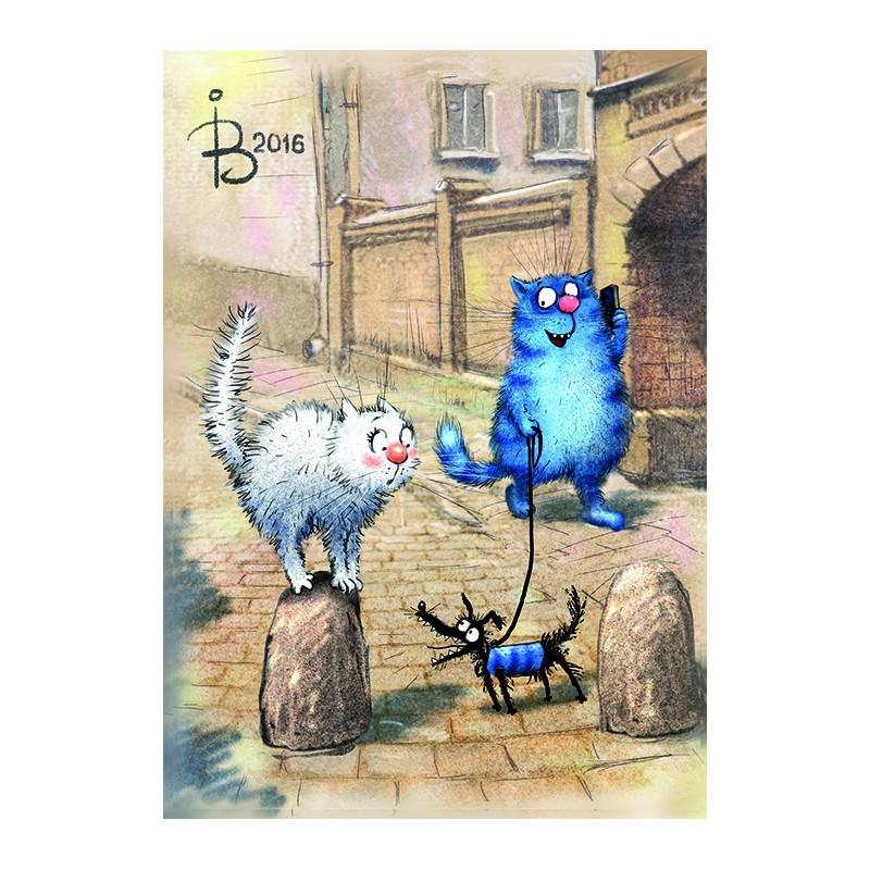 Rina Zeniuk Blue Cats - He does not bite