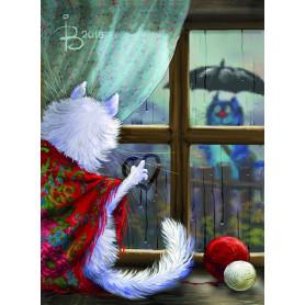 Rina Zeniuk Blue Cats - Rain
