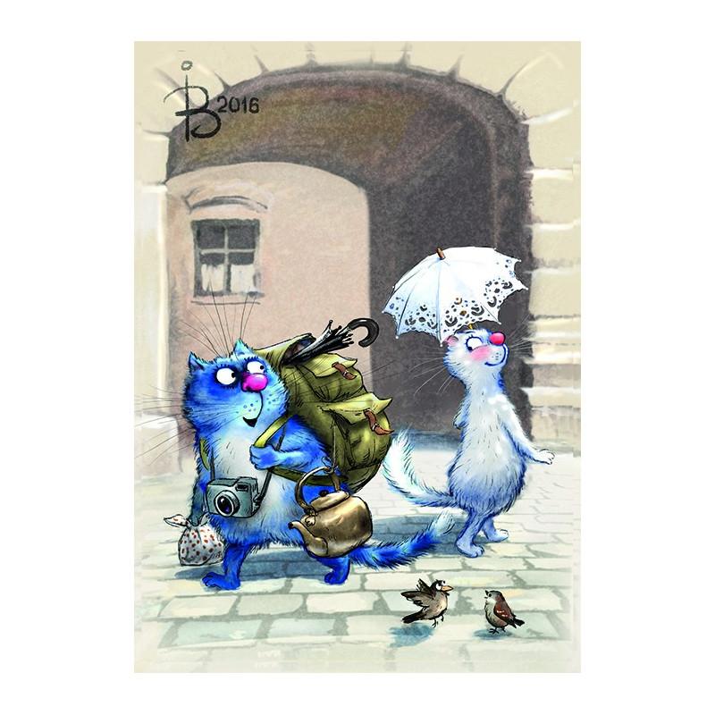Rina Zeniuk Blue Cats - Arrived