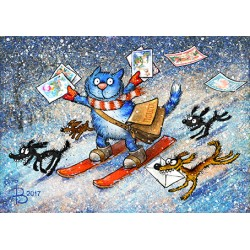 Rina Zeniuk Blue Cats - New Years mail