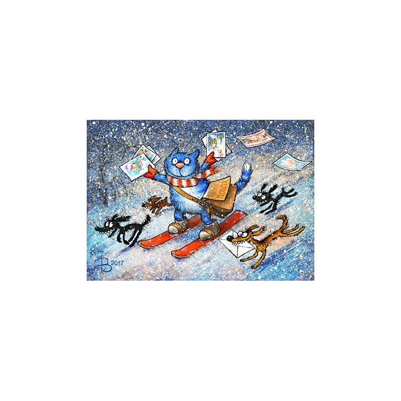 Rina Zeniuk Blue Cats - New Years mail