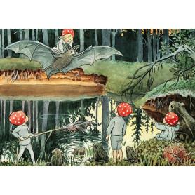 Elsa Beskow - op de vleermuis