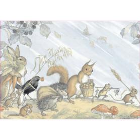 Molly Brett - Animals collecting harvest