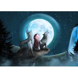 Ila Illustrations - Howling at the moon