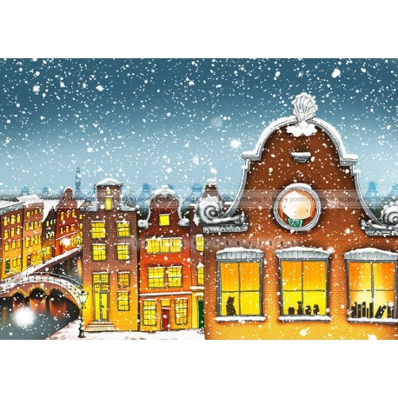 Ila Illustrations - Snowy Amsterdam