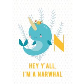 Narwhal - Alphabet N