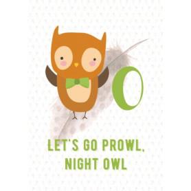 Owl - Alphabet O