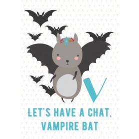 Vampire Bat - Alphabet V