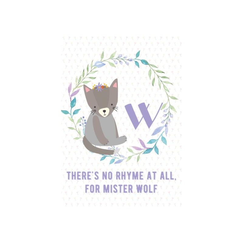 Kitsune Art - Alphabet W