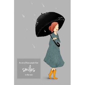 Smile in the rain