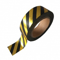 Studio Stationery Washi tape - Black gold foil stripe