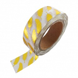Studio Stationery Washi tape - White gold foil feather