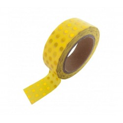 Studio Stationery Washi tape - Yellow gold foil dots