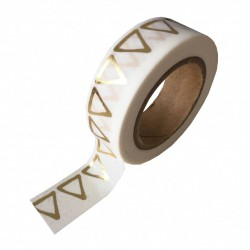 Studio Stationery Washi tape - Gold foil triangle