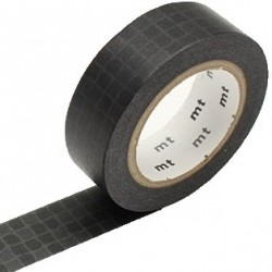 MT Masking Washi tape - Wobble tile black