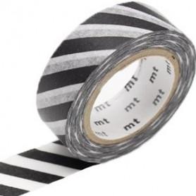 MT Masking Washi tape - Stripe black 2