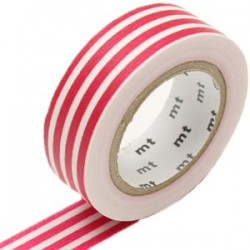 MT Masking Washi tape - Border framboise