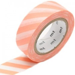 MT Masking Washi tape - Stripe Salmon Pink