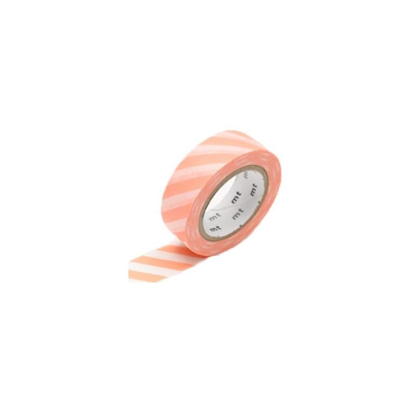 MT Masking Washi tape - Stripe Salmon Pink