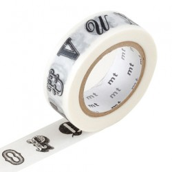 MT Masking Washi tape - Alphabet black