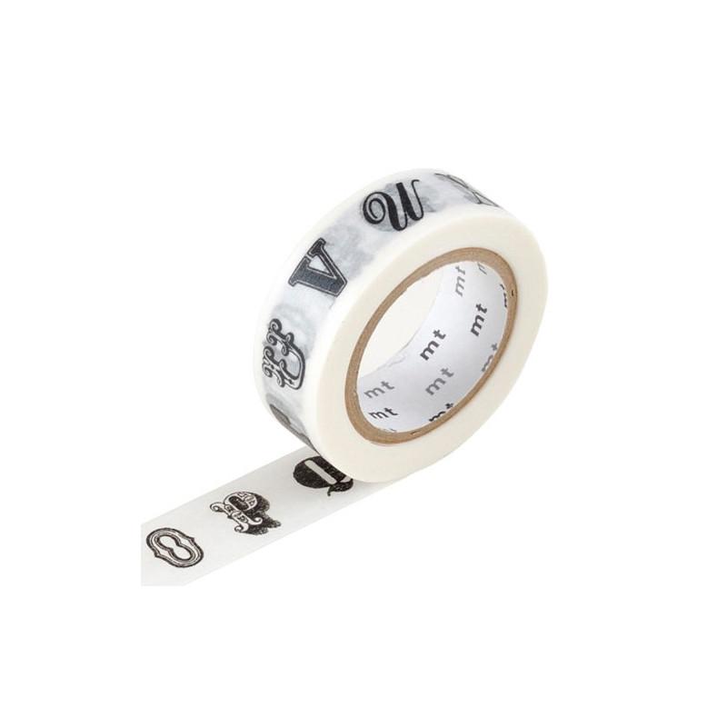 MT Masking Washi tape - Alphabet black