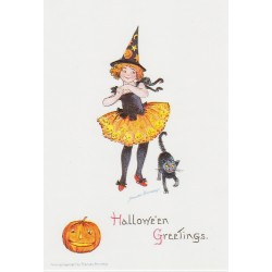 Halloween Greetings - black cat