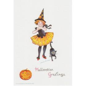 Halloween Greetings - black cat