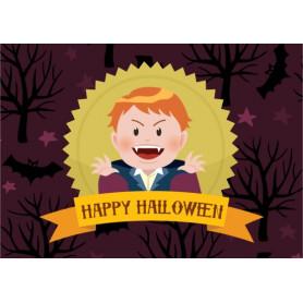 Kitsune Art - Happy Halloween (Dracula)