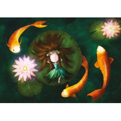 Ila Illustrations - Lady and the Lily