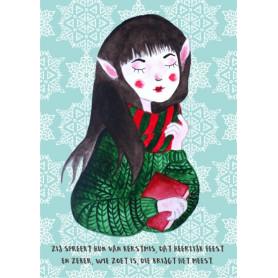 Kitsune Art - Christmas girl 5