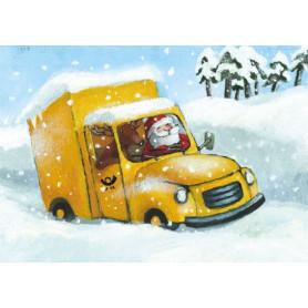 Kerstman als postbode